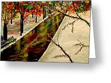 Winter In The Park  Greeting Card by Mark Moore