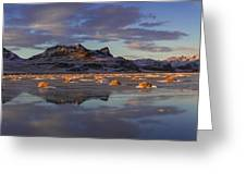 Winter In The Salt Flats Greeting Card