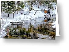 Winter In The Up Greeting Card