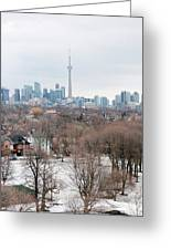 Winter In Toronto Greeting Card