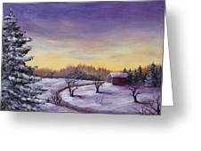 Winter In Vermont Greeting Card by Anastasiya Malakhova
