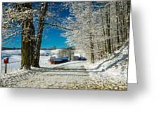 Winter In Vermont Greeting Card