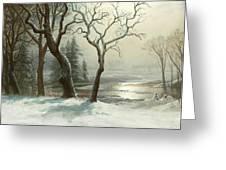 Winter In Yosemite Greeting Card