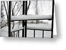 Winter Ironwork Greeting Card