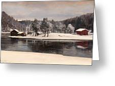 Winter Landscape 1899 Greeting Card