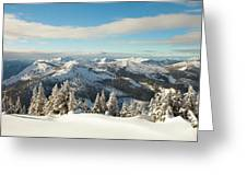 Winter Landscape In British Columbia Greeting Card