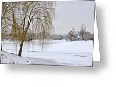 Winter Landscape Greeting Card