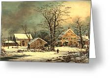 Winter Morning 1863 Greeting Card
