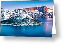 Winter Morning At Crater Lake Greeting Card