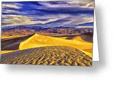 Winter Morning At Death Valley Greeting Card
