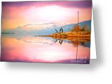 Winter Morning At Okanagan Lake Greeting Card
