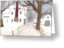 Winter Morning At The Big White House Greeting Card