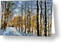 Winter Morning In The Forest Greeting Card