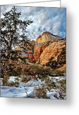 Winter Morning In Zion Greeting Card