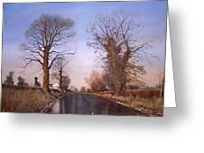 Winter Morning On Calverton Lane Greeting Card