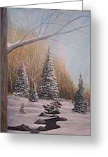 Winter Morning Greeting Card by Rick Huotari