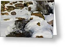 Winter Mountain Stream Greeting Card