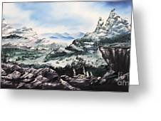 Winter Mountians Greeting Card