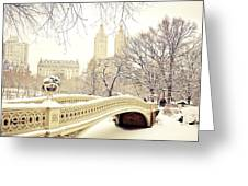 Winter - New York City - Central Park Greeting Card