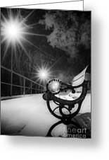 Winter Night Along The River Greeting Card