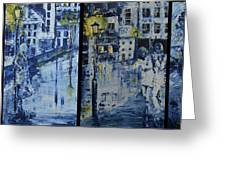 Winter Night In The City Greeting Card