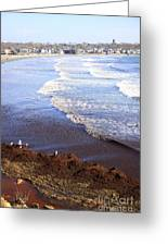 Winter Ocean In Newport Ri Greeting Card