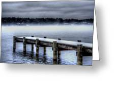 Winter On A Texas Lake Greeting Card