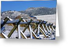 Winter On Horsetooth Mountain Greeting Card