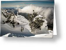 Winter On Mt. Bachelor Greeting Card