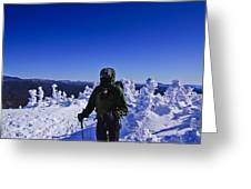 Winter On Mt Jackson Greeting Card