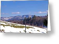 Winter On The Blue Ridge Greeting Card