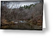 Winter On The Eno River At Fews Ford Greeting Card