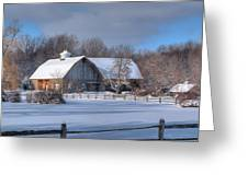 Winter On The Farm 14586 Greeting Card