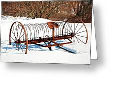 Winter On The Farm Greeting Card
