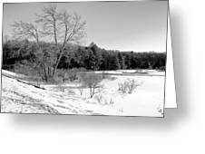 Winter On The Moose River Greeting Card