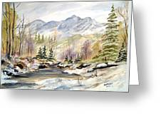 Winter On The River Greeting Card