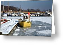 Winter On The Sea Side In Denmark Greeting Card