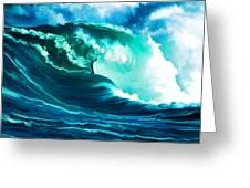 Winter Pacific Surf Greeting Card