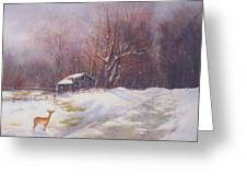 Winter Palette Greeting Card by Howard Scherer