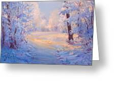 Winter Path. Greeting Card