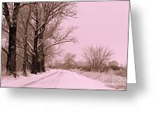 Winter Pink Greeting Card by Carol Groenen