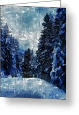 Winter Piny Forest Greeting Card