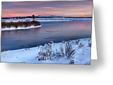 Winter Quiet And Colorful Greeting Card