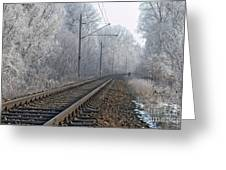 Winter Railroad Greeting Card