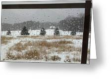 Winter Rain  Greeting Card