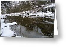 Winter Reflections On Ice And Water Greeting Card