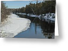 Winter River I Greeting Card