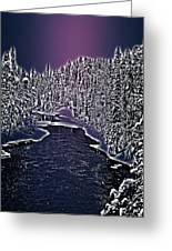 Winter River Oulanka National Park Lapland Finland  Greeting Card