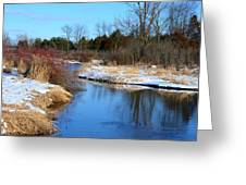 Winter River3 Greeting Card by Jennifer  King