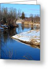 Winter River4 Greeting Card by Jennifer  King